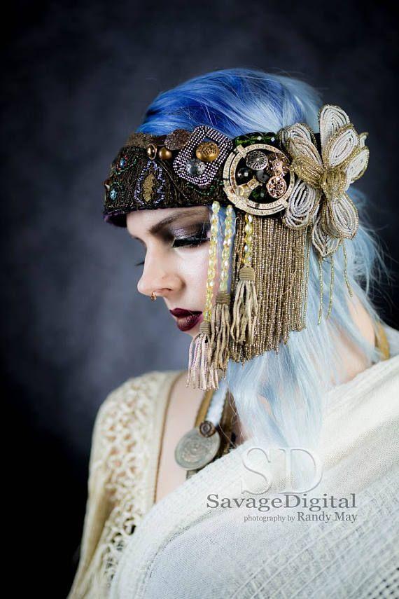 VERKOCHT Boheemse schoonheid een bruids hoofdtooi