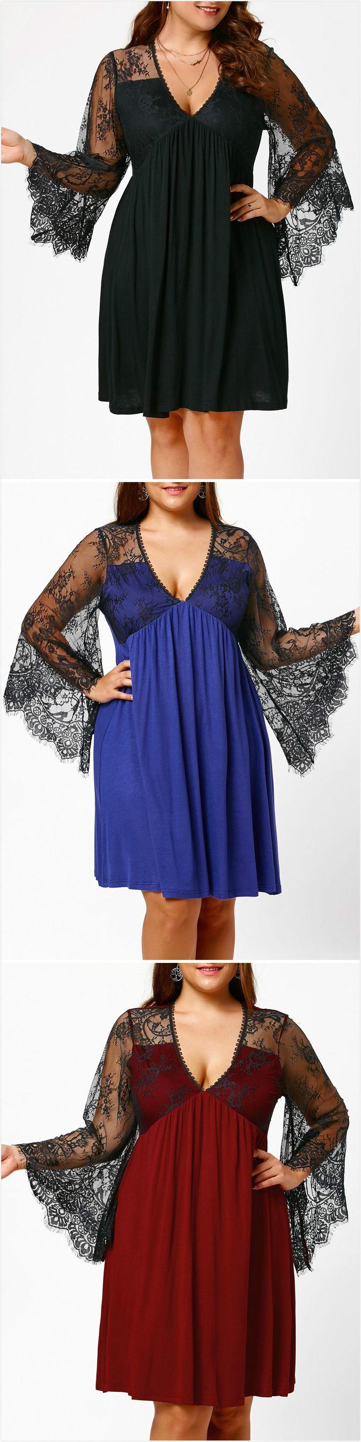 Empire Waist Plus Size Tunic Dress