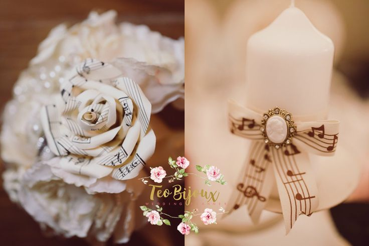 Buchet nunta, lumanare lunta, eveniment tematic Music ..till the end of love #decoratiuni_nunta #wedding #bridal #TeoBijoux #wedding_planner