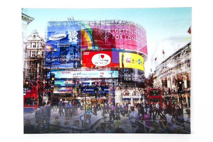 Διακοσμητικά Είδη :: Διακοσμητικοί Πίνακες :: Πίνακας Glass Piccadilly Circus 120x160