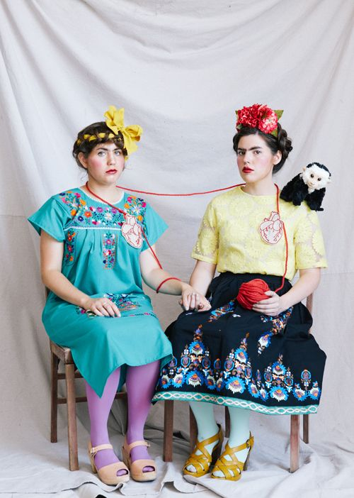 Recreate Frida's self portrait The 2 Fridas as a Halloween Costume this year! Check out the blog to learn how!