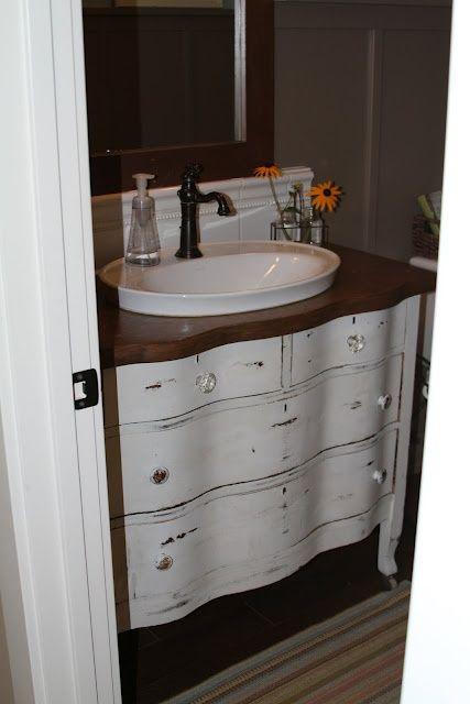 Guide to Choosing a bathroom vanity bathroom vanity from dresser. I like the raised sink