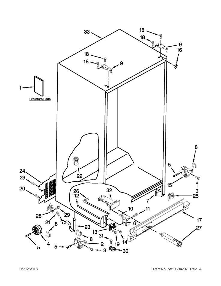 Parts whirlpool refrigerator refrigerator