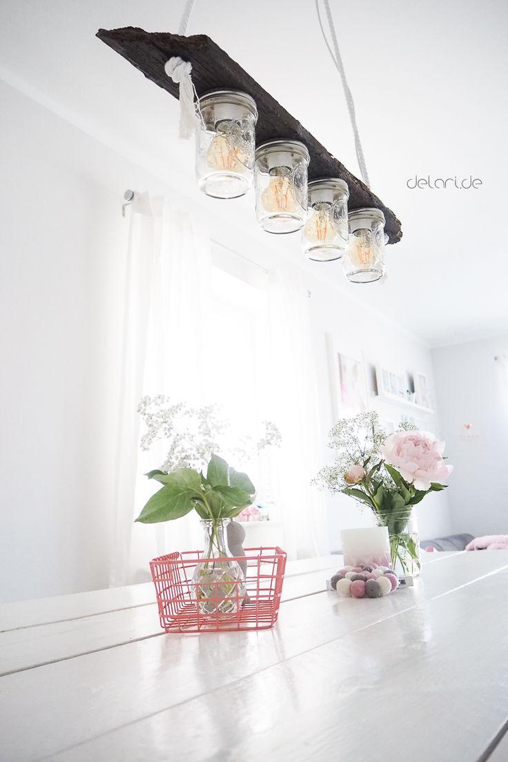 DIY Lampe Aus Mason Jar Gläser   Anleitung Auf Dem Blog