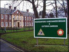 Catterick Garrison, army barracks