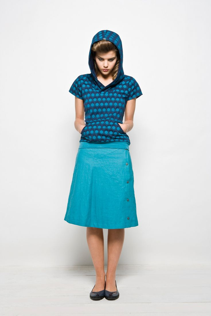Skunkfunk USA: MURGIA-LN Outlet WOMEN'S SKIRT, Fabric Content: 100% linen, Sustainable Fashion, Eco-Friendly Clothing, Fair Trade Clothing, European Chic