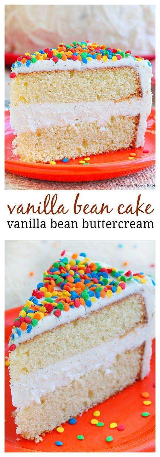 VANILLA BEAN CAKE WITH VANILLA BEAN BUTTERCREAM RECIPE   Food And Cake Recipes