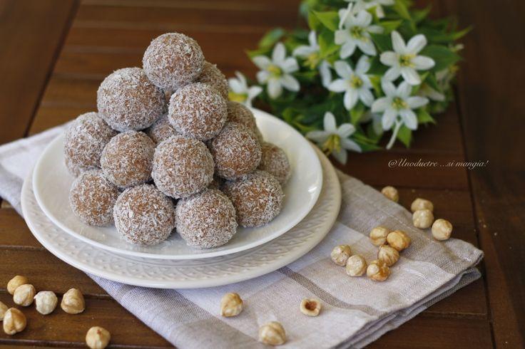 Palline+al+cocco,+dolci+estivi+senza+cottura