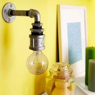 how to make a wall sconce from a pipe - Google Search