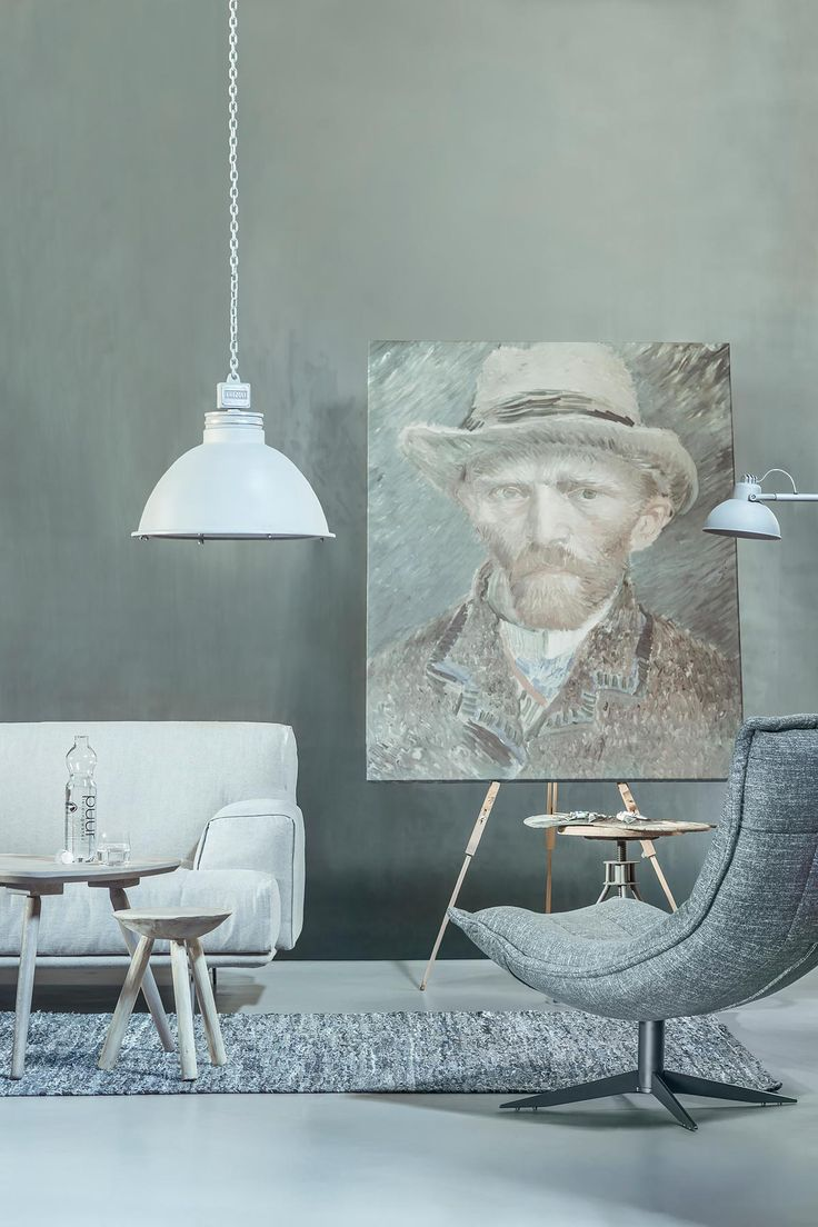 Van Gogh zelfportret interieur canvasdoek | www.twoonhuis.nl