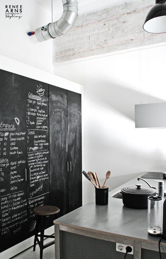 blackboard kitchen wall