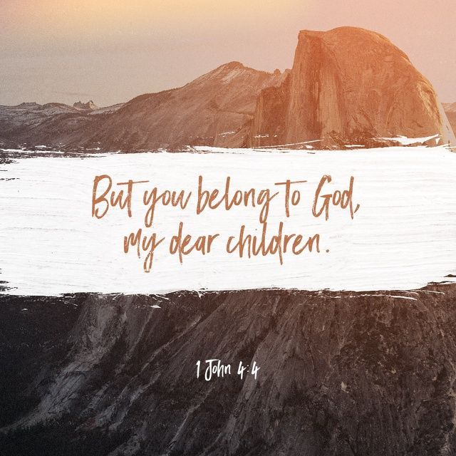 Ye are of God, little children, and have overcome them: because greater is he that is in you, than he that is in the world.