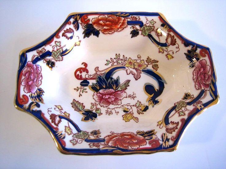Masons Ironstone blue Mandalay sweet dish Lorne
