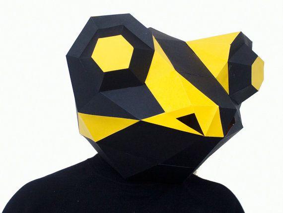 Make your own Salamander / Frog Mask, Animal Head,Instant Pdf download, DIY New Year, Printable Templates, 3D Polygon Masks, Printable Mask