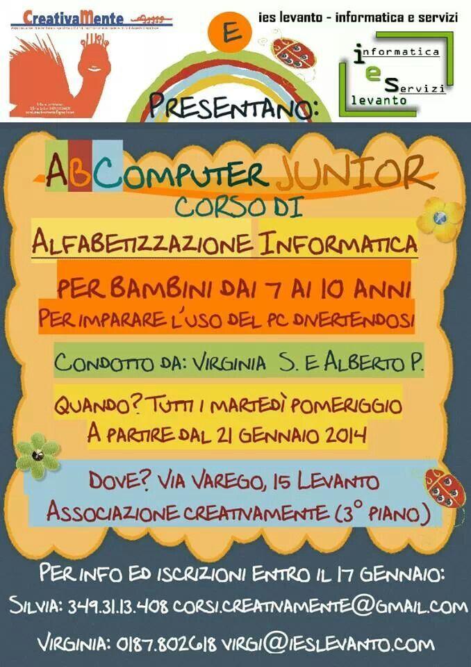 ABComputer Junior.   CORSO PC per bimbi scuole elementari!