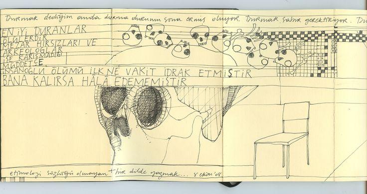 moleskine notebook on mixed media 2007-2008