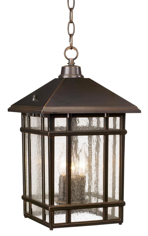 J du J Sierra Craftsman Outdoor Hanging Light -