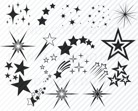Stars Svg File Vector Images Silhouette Star Elements Svg Clipart Svg Files For Cricut Bundle Svg Eps Png Dxf Clip Art Decorative In 2021 Star Svg Star Tattoo Designs Star Tattoos