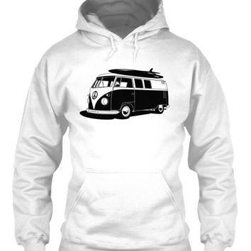 Men's Vintage  VW Bus Surf Hoodie