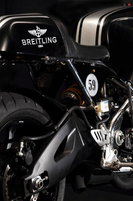 Number 59 - The Breitling cafe racer by Santiago Chopper #motorcycle #motorbike