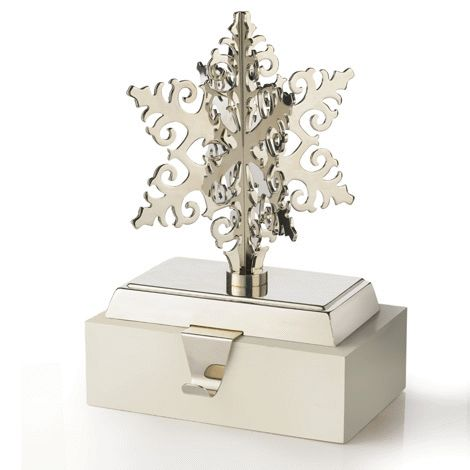 Snowflake Design Stocking Holder reg.  $16.00 Product Number  1021211 For your mantel! Heavy enough to support up to 1.5 kg. www.Facebook.com/shopavonwithdeon