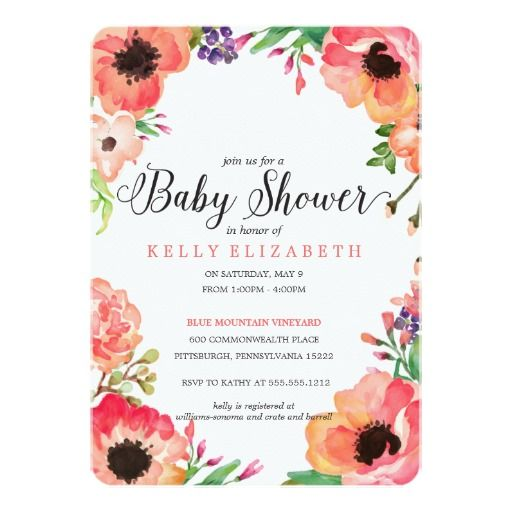 68 best baby shower invitations & decor images on pinterest, Baby shower invitations