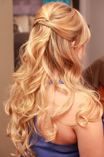 Gorgeous half up curls / Glamah Shots with Mindy Kerr Photography! by Mommy Does Hair