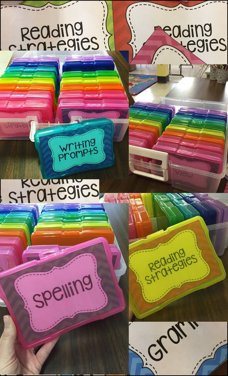 Task Card Classroom Storage and Organization