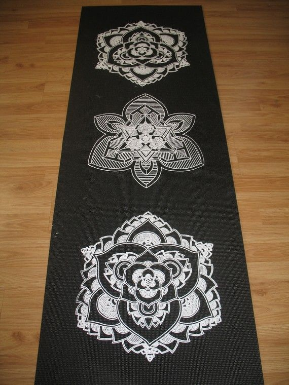 Mandala Sunset Lotus Yoga Mat by LuminousFlower on Etsy