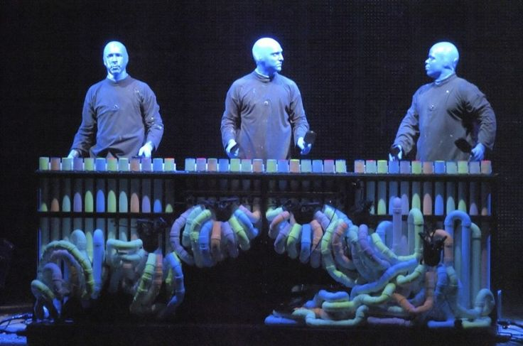 A resonant pipes instrument from the 'Blue Man Group'
