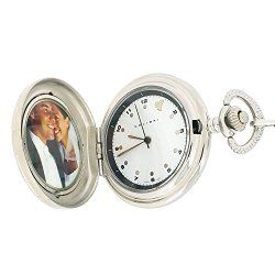 Colibri Pocket Watch Antique Design Photo Frame Engravable Wood Box PWS096009J