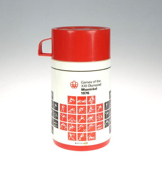 VINTAGE Thermos Montreal 1976  Games of the XXI by The1608shop