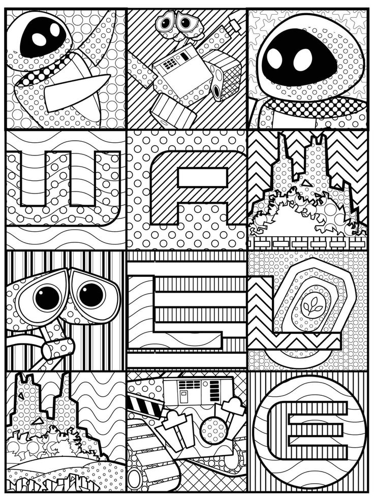 47 best coloriage wall e images on pinterest - Coloriage wall e ...