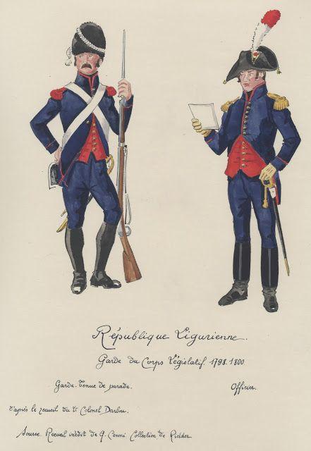 République Ligurienne 1798-1800 Garde du corps Législatif