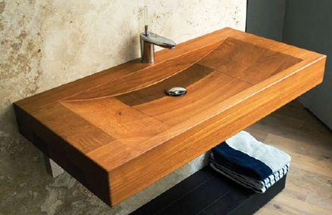 Boxart rectangular wood sinkBoxart Lavabo, Boxart Rectangular