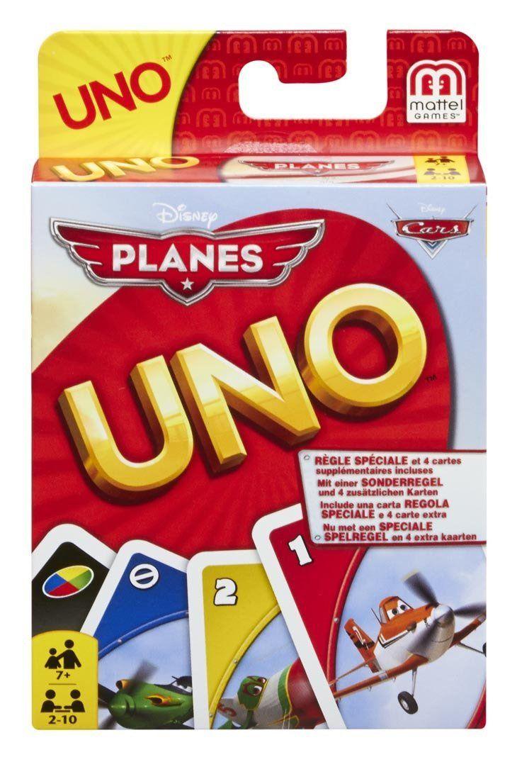 Mattel Uno Disney Planes - Card Game (BGG50)  Manufacturer: Mattel Barcode: 746775321895 Enarxis Code: 015835 #toys #Mattel #Disney #Pixar #boardgames #Planes #Uno