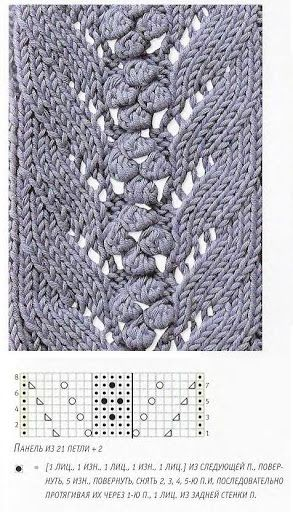 Lace knitting pattern with nupps or bobbles - Marianna Lara - Picasa Web Album