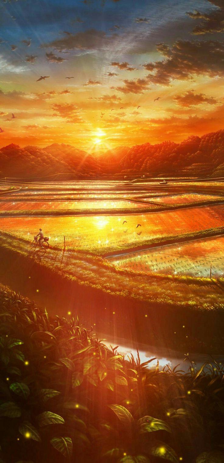 Gambar Scenery oleh Gustya Damayanti Pemandangan anime