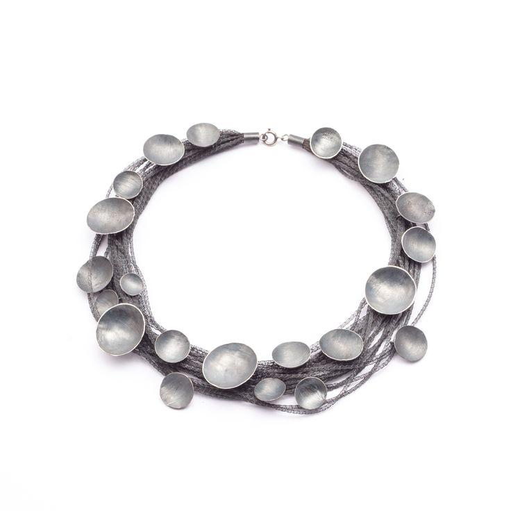 Lia Gonçalves | Joalharia de Autor _ necklace _ moon collection _ oxidized silver