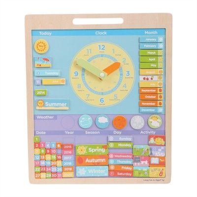Bigjigs Toys Anglický magnetický kalendár s hodinami