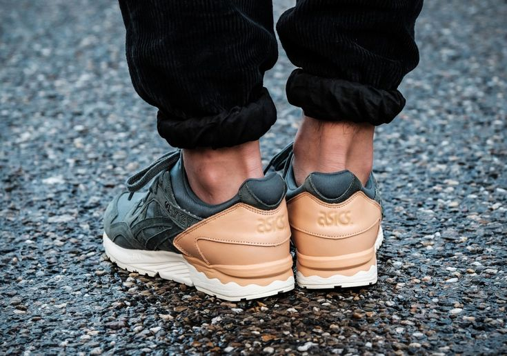 ASICS GEL-Lyte V Tan Leather Green Suede #thatdope #sneakers #luxury #dope #fashion #trending