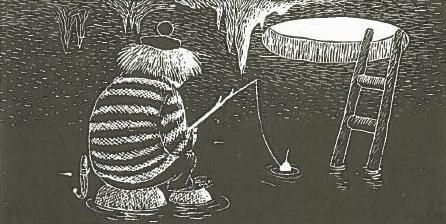 Too-ticky fishes beneath the ice -- Moominland Midwinter: by Tove Jansson