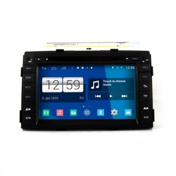Autoradio GPS DVD Kia Sorento S160 Android 4.4.4 avec HD Ecran tactile Support Smartphone Bluetooth kit main libre Microphone RDS CD SD USB 3G Wifi TV MirrorLink
