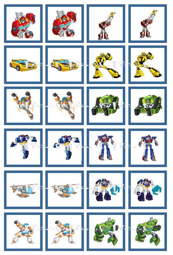 Transformers Rescue Bots Digital Memory Game Birthday