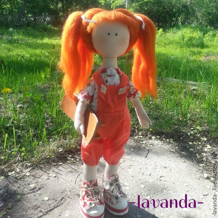 Купить Малышка-спортсменка. - кукла ручной работы, подарок, рыжуля, спортсменка, скейтбордистка, рыжий
