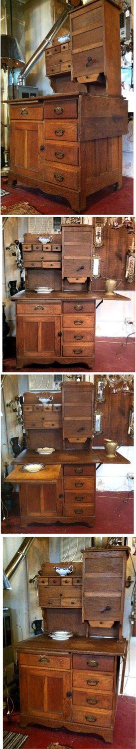 Antique Hoosier Cabinet 1800. $1,800.00, via Etsy.