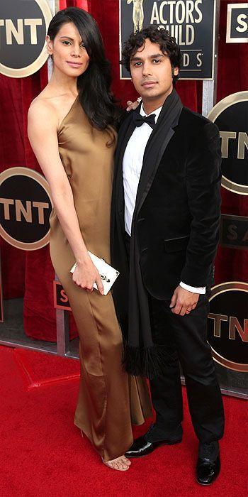 SAG Awards 2014: Arrivals : People.com Kunal Nayyar and wife Neha Kapur