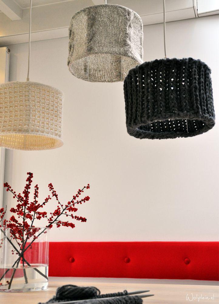 Gebreide lampenkappen breipakketten - wolplein.nl