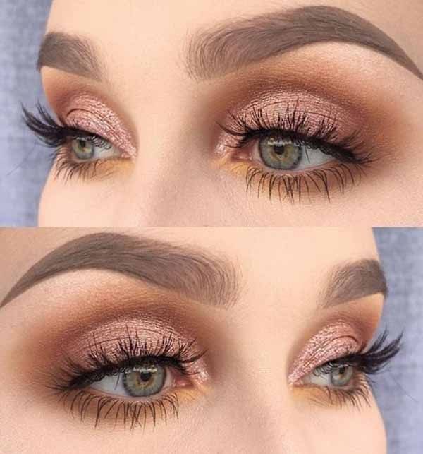 25 Amazingly Colorful Eye shadow Looks For Brown E…
