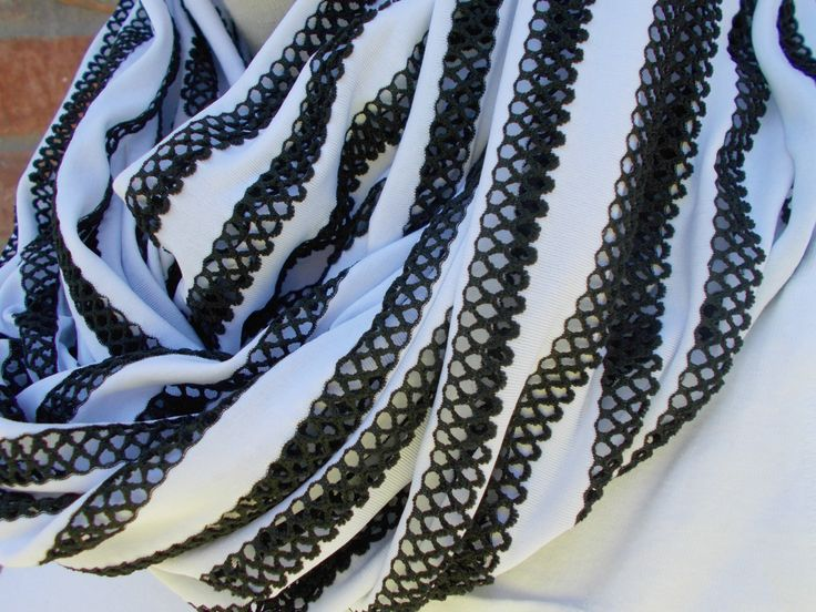 Striped Infinity Scarf Black and White Spring Scarf Summer Scarves Fashion Scarf for Women and Teens Long Loop Scarf Forever Andrea by foreverandrea on Etsy